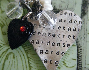 Secret Garden of My Heart Charm and Bead Pendant Necklace