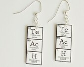 TeAcH  Earrings - Periodic Table of Elements