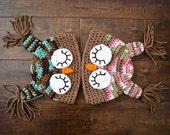Crocheted Owlet Bean
