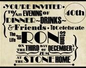 30th,40th,50th,60th,70th,80th,90th Birthday Digital Invitation