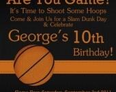 Basketball Digital Birthday Invitation