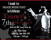 Michael Jackson Digital Birthday Invitation