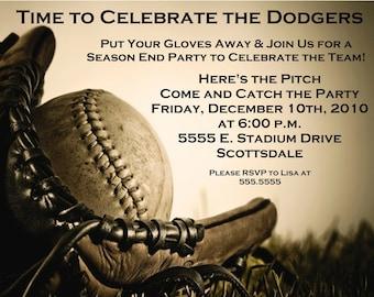Baseball Digital Party Invitation