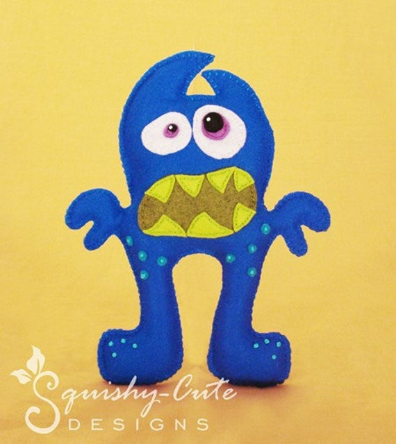 Monster PDF Sewing Pattern & Tutorial by SquishyCuteDesigns - photo #24