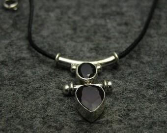 Handmade Artisan 925 Sterling Silver Gemstone Jewelry Red Garnet Wedding Anniversary Necklace