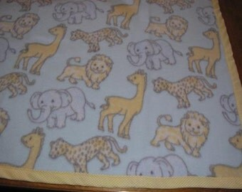 Animal Print Fleece Blanket for Baby
