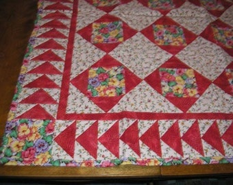 Floral Flannel Quilt for Baby Girl