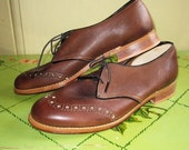 1940s/50s flats oxfords shoes ww2 peekaboo design