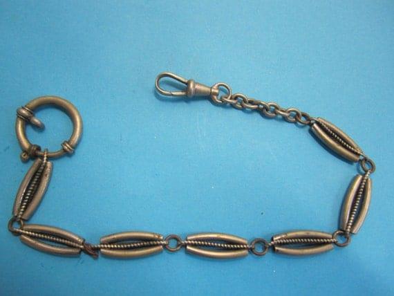 antique metal pocket watch chain around 1900