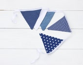 Bunting Nautical Blue Denim Good Will Bunting Weekender