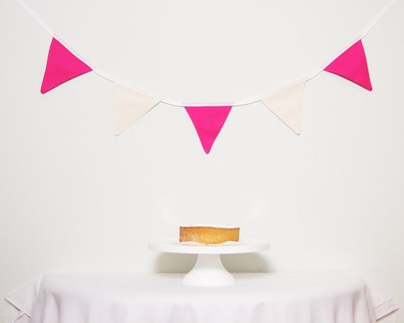 SALE Pink and Neutral Bunting LAST ONE Good Will Bunting