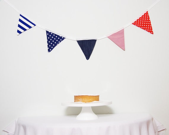 LAST ONE Good Will Bunting Red, White, Blue and Denim