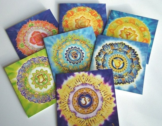 Last Set of Chakra Mandala Greeting Cards