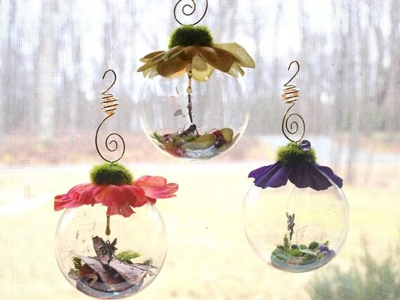 Items similar to Fairy glass globe orb, fairy ornament ...