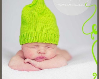 Hand knit Newborn hat   Hand made baby hat Fashion  light green cotton Preemie infant beanie  Ready to ship Handmade in Colorado