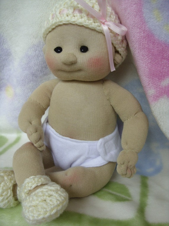 Sock Baby Doll Boy Girl Made from Socks Lali Doll