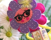 RESERVED Flower doll ornament (FlowerNuts number 4)