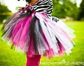 Hot Pink, Black, and Zebra Tutu