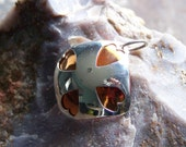 Argentium Sterling and Copper OOAK Heart Pendant