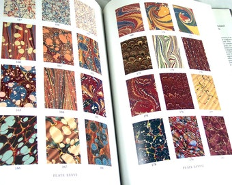 "Marbling Book ""Marbled Paper"" Rare Reference Book Papercraft Surface Design Free US Shipping"