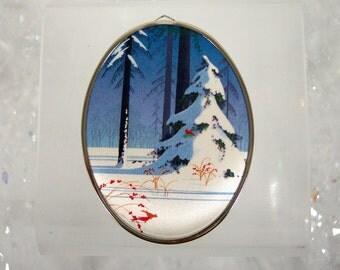 Christmas Ornament Vintage 1985 Hallmark Satin Ornament Heart Full of Love