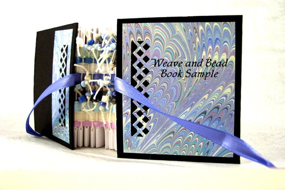 Bookbinding Kit Weave and Bead in Blues
