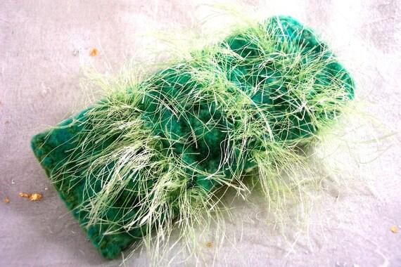 "Glasses Case ""Wild Thing"" Green Knitted Felt"