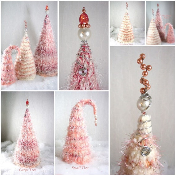 Christmas Trees The Felted Forest in Gumdrop Pink OOAK