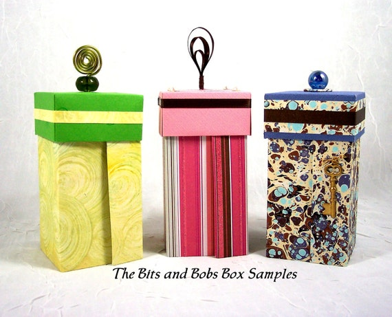 Instructions How to Make The Bits and Bobs Box PDF Pattern