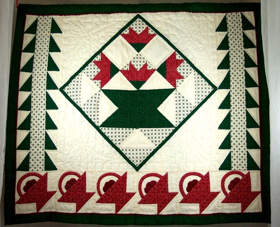 Christmas Quilt Vintage Wall Hanging