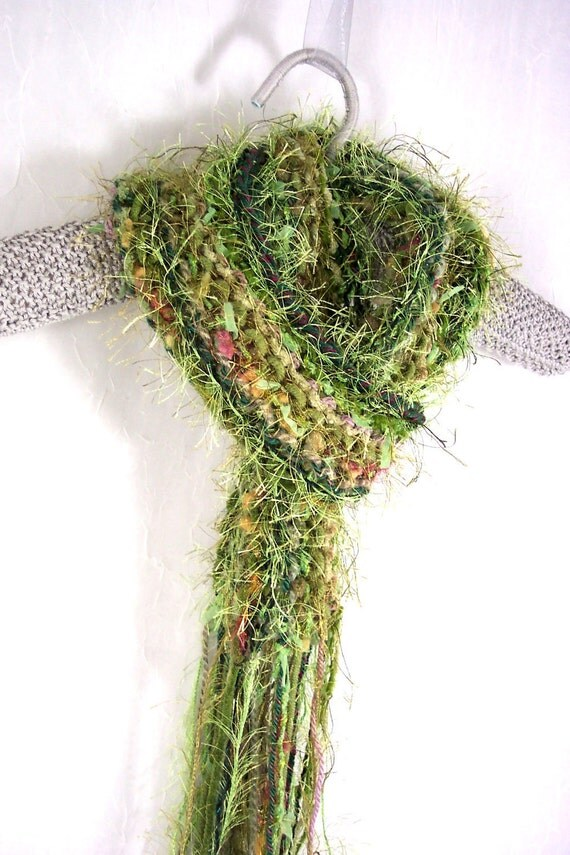 Scarf in Limeade Knit