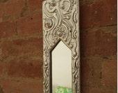long and narrow wall mirror - cast aluminium - last one...