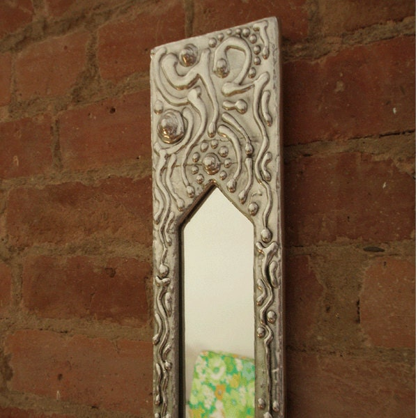 long and narrow wall mirror cast aluminium last by minjean6