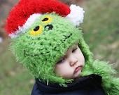 Mr. Grinch Hat - Christmas Photo Prop - Choose size 12-24 Months, 2T