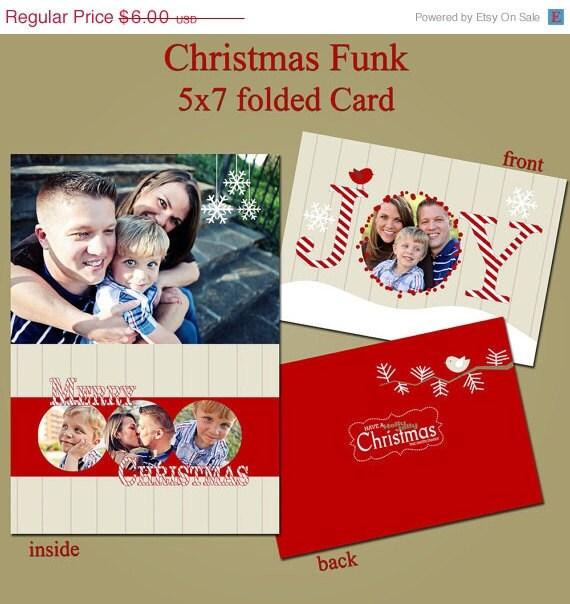 ON SALE 5x7 Folded Photoshop PSD Photo Card Template Photo for Photographers - Joy Bird - ProDigital, Whcc or Mpix