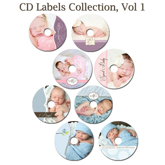INSTANT DOWNLOAD -  Cd/DVD Label Photoshop templates - set of 8  - 0300