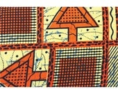 african print orange arrow fabric // african fabric // sewing supplies // quilting fabric // modern quilt fabric // fat quarter to yardage