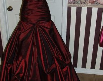 Custom made as ordered - taffeta gown