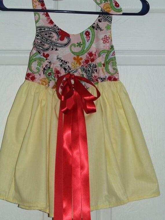 Beautiful girls cotton halter dress