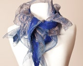Nuno Felted Merino and Silk RUFFLES Scarf or Shawl - Women's Accessories - Fashion Accessories - Fall and Winter - Casual