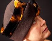 Felted Merino and Shibori Velvet Hat, 'CHAPEAU MOU', Limited Edition - Womens Fashion Accessory
