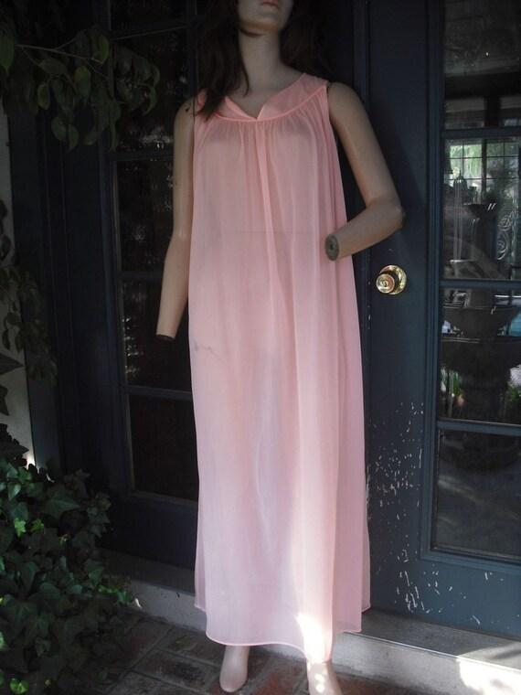 Pretty Pink Nylon Nightgown
