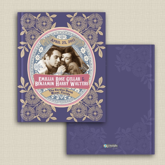 The Emily Vintage Wedding Guest book