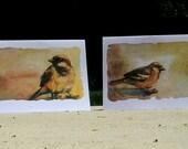 Sepia Sparrow Series, Set of 4 Cards
