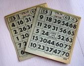 Vintage Bingo Sheets - set of 10 sheets