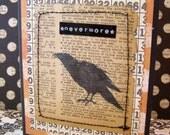Nevermore Halloween Card