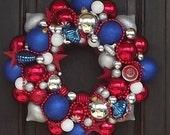 America the Beautiful II  ALL ornament wreath SHATTERPROOF
