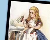 Alice in Wonderland 5 10x7 Prints by Sir John Tenniel Set 1