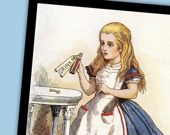 Alice in Wonderland 5 10x7 Prints by Sir John Tenniel Set 1