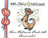 New Release Digital Stamp Pack no.2b - 'Animals' (set of 10)